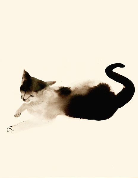 water color cat 1